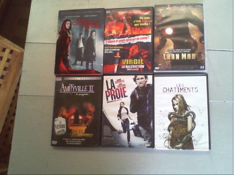 LOT DE 6 DVD FILM FRISSON